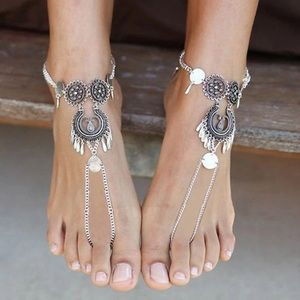 Jewelry - Antique Silver Tone Boho Anklet NEW